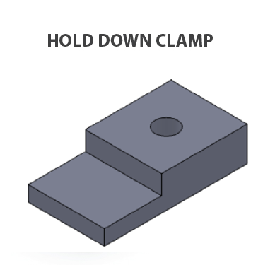 Cable tray-Hold Down Clamp
