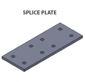Cable tray-Splice plate