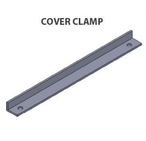 Cable tray-Cover clamp