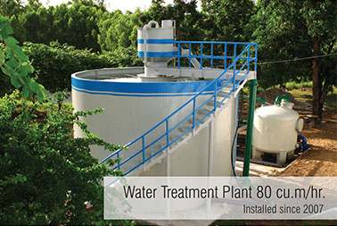 water treatment plant installed since2007