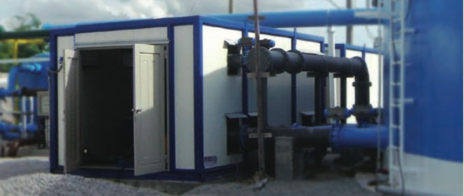 control container _ water treatment plant