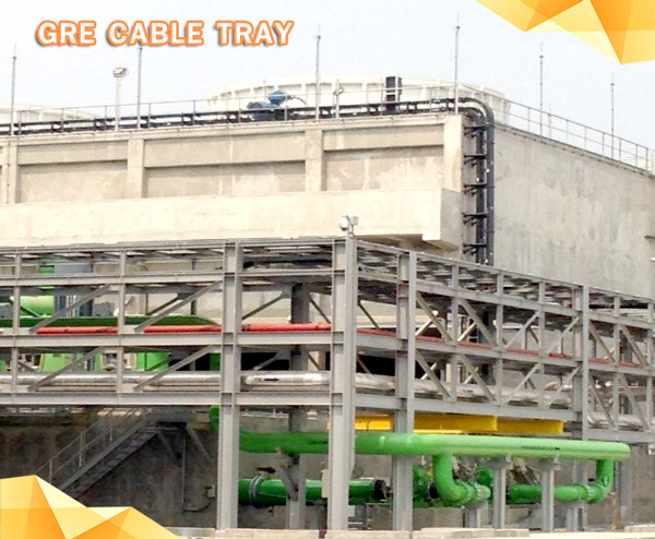 Cooling tower FRP Cable Tray