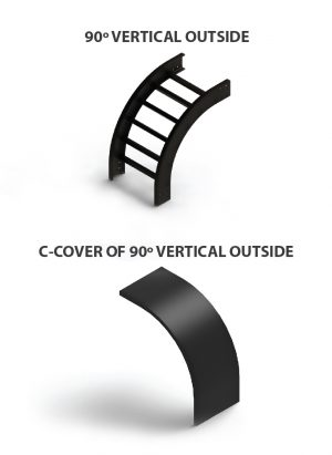 C cover 90 Vertical outside