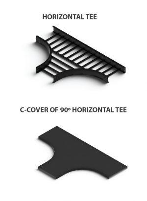 C cover 90 Horizontal tee